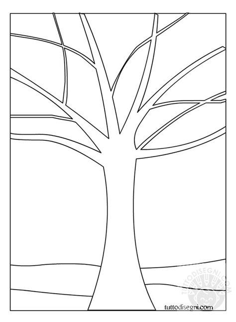 albero autunno stilizzato da colorare tuttodisegnicom