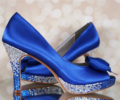 blue shoes for wedding blue wedding shoes blue platform peep toe bridal heels with blue and silver ombre heel