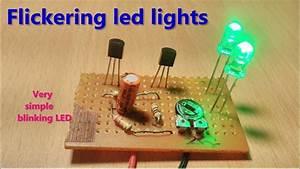Flickering      Blinking Led Light Using Two Transistors  U0026 One Capacitor