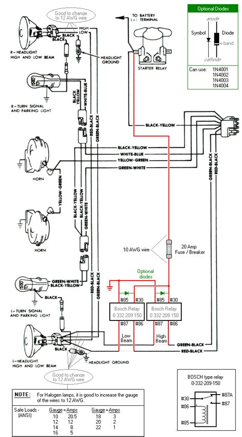 Relay Headlight Wiring Diagram by Falcon Diagrams