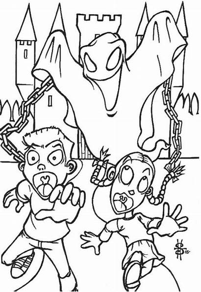 Ghost Coloring Pages Halloween Scary Printable Ghostbusters