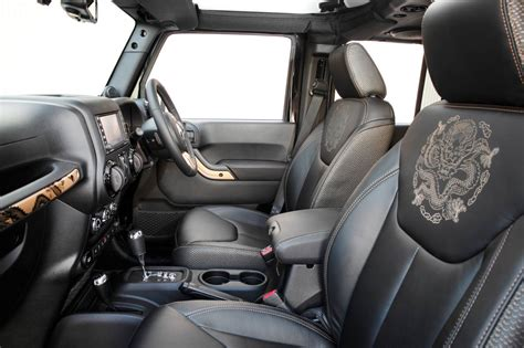 jeep interior seats jeep cars news jeep unleashed the dragon in the wrangler