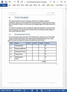 cost benefit analysis template With project cost summary template