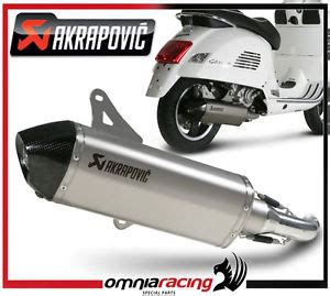 pot d echappement catalytique akrapovic titane vespa gts