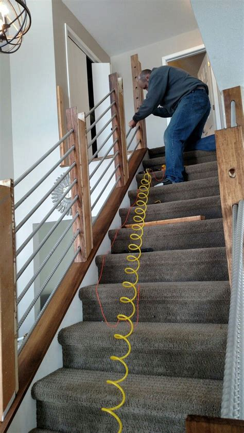 making rebar railings stairway railing ideas rustic