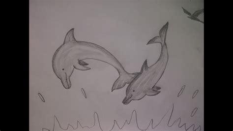 malen mit bleistift delfine malen wie zeichnet delfine mit dem bleistift einfach
