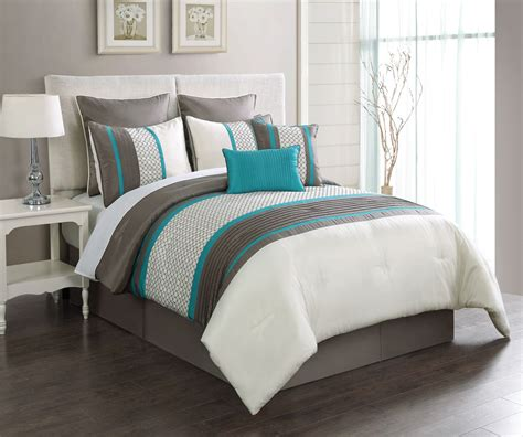 Turquoise Down Comforter Open Glass Door Girl Bedroom
