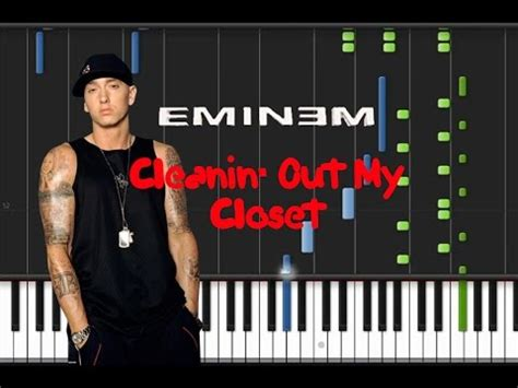 eminem cleanin out my closet eminem cleanin out my closet piano tutorial