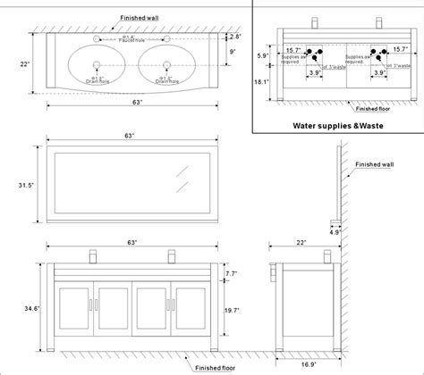 standard vanity width bathroom cabinet dimensions standard home design