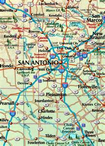 Texas Map with Cities and Towns
