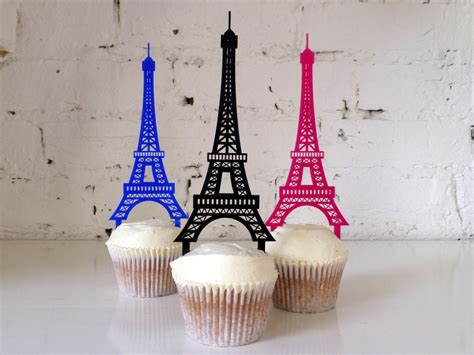 eiffel tower cupcake decorations eiffel tower cupcake topper by misssarahcake on etsy