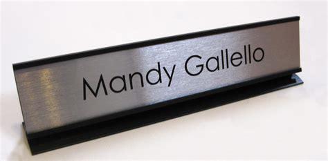 Office Desk Name Plates & Custom Metal Office Signs Desk