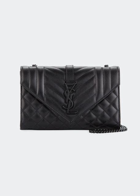 saint laurent monogram ysl envelope small chain shoulder bag black hardware