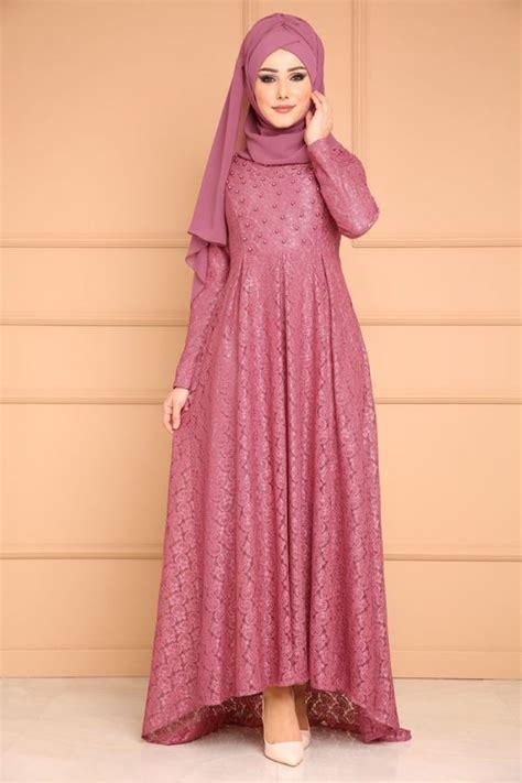 model gamis brokat terbaru kombinasi pesta dll hijabtuts