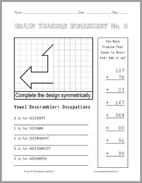 all worksheets 187 brain teaser answers worksheets