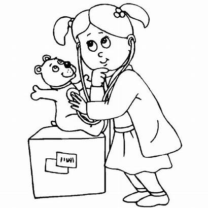 Coloring Hospital Pages Doctor Printables Getcolorings Printable