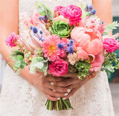 Summer Bridal Bouquet Wedding And Party Ideas 100 Layer Cake