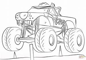 Monster Jam Coloring Page Home Sketch Coloring Page