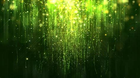 green glossy rain background  glitter particles