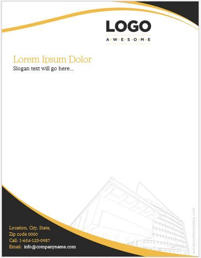 construction business letterhead templates ms word