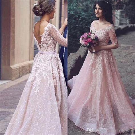 blush colored wedding gowns discount arabic 2017 blush pink colored wedding dress a