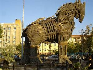 Trojan Wooden horse of Troy the Ancient city