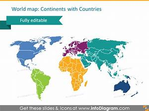 Powerpoint Template  World Maps Continents  Countries