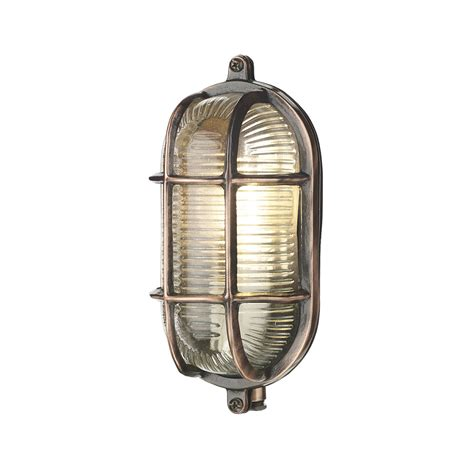 david hunt adm5264 admiral antique copper oval wall light