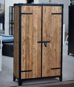Schrank Metall Holz : design schrank metall ~ Indierocktalk.com Haus und Dekorationen