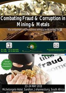 Combating Fraud & Corruption In The Mining & Metals ...