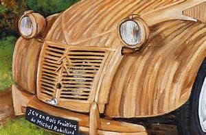 2 Cv En Bois : peinture 2 cv en bois fruitiers toile acrylique r aliste artiste peintre virginie trabaud ~ Medecine-chirurgie-esthetiques.com Avis de Voitures