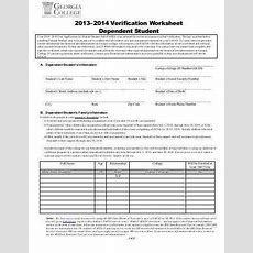 Dependent Verification Worksheet Homeschooldressagecom