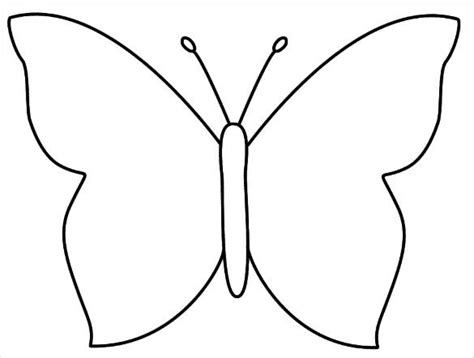 printable crafts colouring pages  premium templates butterfly coloring page