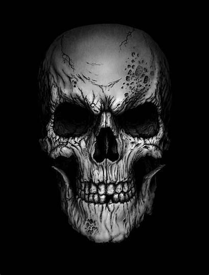 Skull Deviantart Skulls Andrewdobell Tattoo Cool Powerlifting