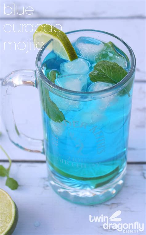 blue curacao mojito 187 dragonfly designs