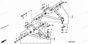 Honda Atv 2003 Oem Parts Diagram For Front Arm