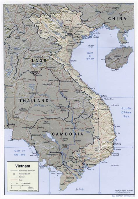 Maps Of Vietnam  Detailed Map Of Vietnam In English