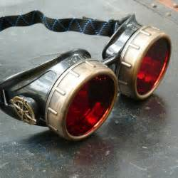 Steampunk Goggles With Red Lenses