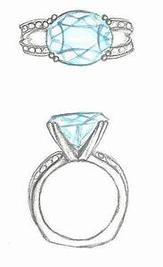Mark Schneider Design Sketch Of Amore Engagement Ring