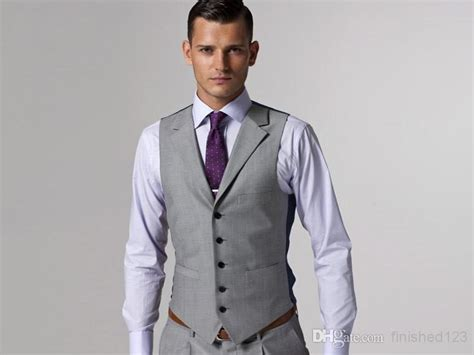 Hot Sale Light Grey Formal Men's Waistcoat New Arrival
