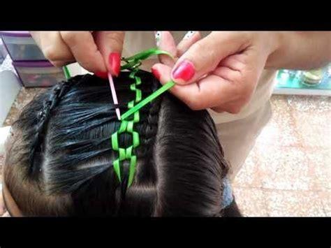 encintado  peinados hairstyle youtube trenzas