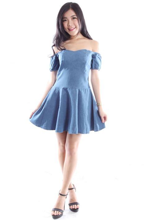 Turmec u00bb off the shoulder denim dresses