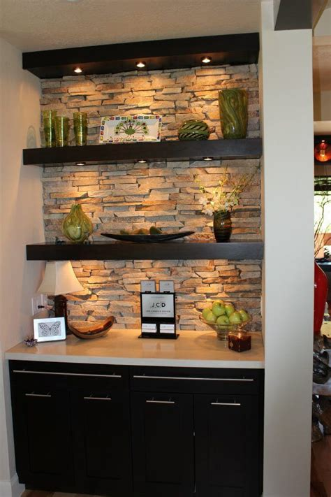 deeper base cabinet and counter with floating shelves