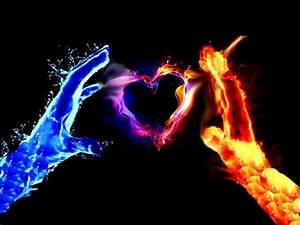 Fire and Ice Heart Wallpaper | Fire And Ice | wallpaper ...