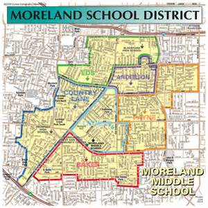Moreland School District Boundary Map