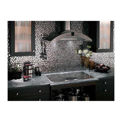 carrelage inox cuisine mosaique inox 1 plaque carrelage faience credence galet