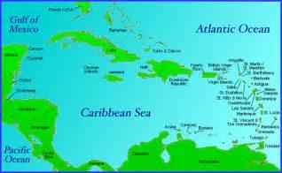 Caribbean Islands and Bermuda Map