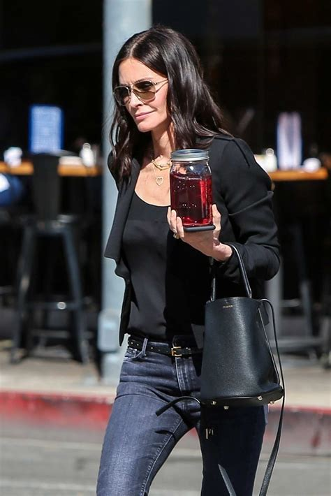 courteney cox is looking extra slim and fit as she crosses ...