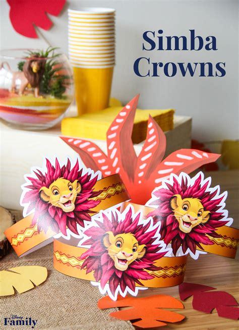 printable simba crown disney family