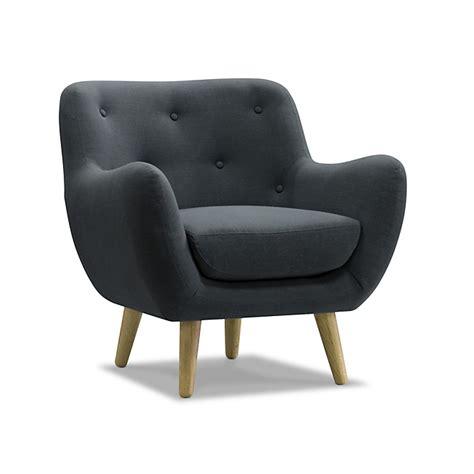 fauteuil esprit scandinave gris poppy meuble
